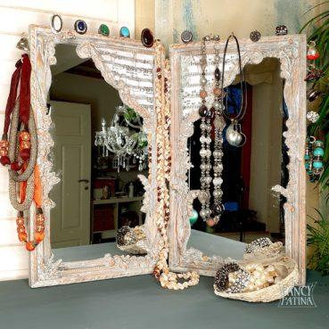 Vintage Spiegel als Schmuckdekoration
